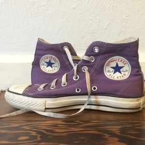 Converse all stars high top shoes.